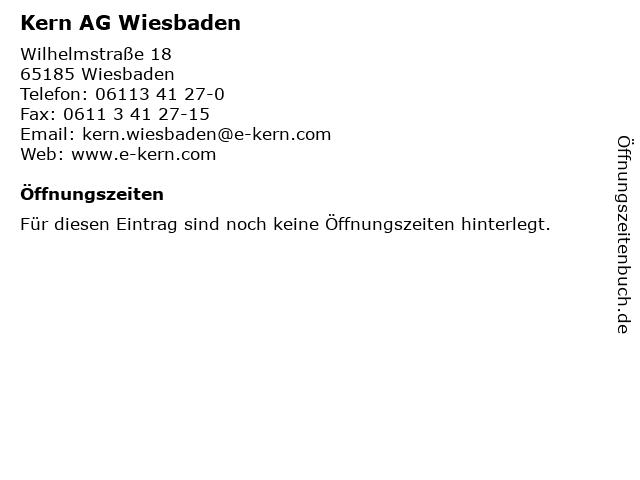 Kern AG Wiesbaden in Wiesbaden: Adresse und Öffnungszeiten
