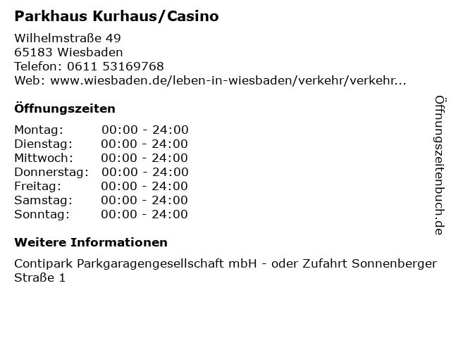 parkhaus casino wiesbaden