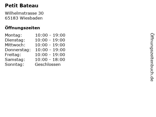 Petit Bateau in Wiesbaden: Adresse und Öffnungszeiten