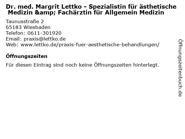 Praxis für Allgemeinmedizin und Akupunktur in Wiesbaden: Adresse und Öffnungszeiten