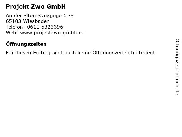 Projekt Zwo GmbH in Wiesbaden: Adresse und Öffnungszeiten
