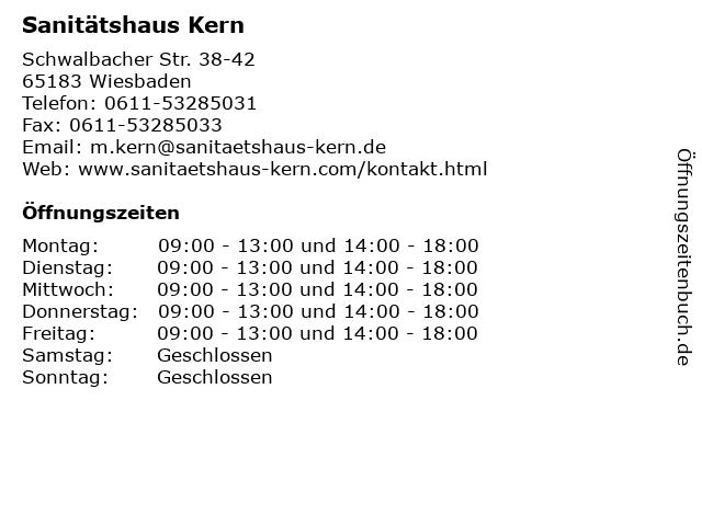 Sanitätshaus Kern in Wiesbaden: Adresse und Öffnungszeiten