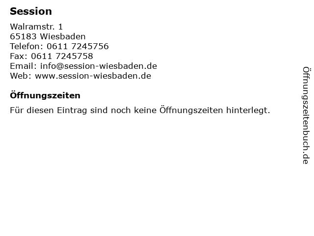 ᐅ öffnungszeiten Session Walramstr 1 In Wiesbaden