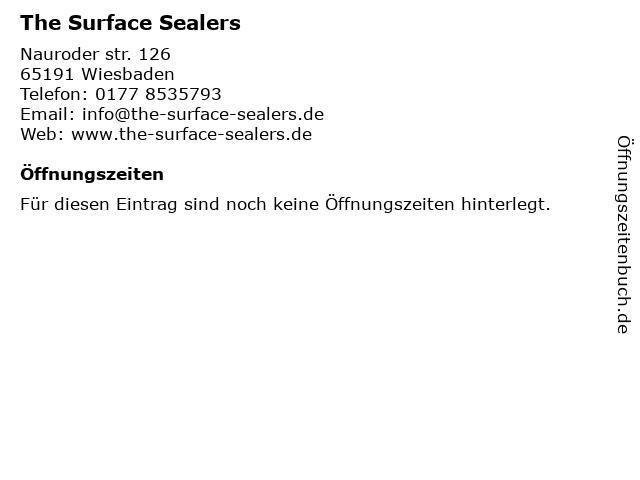 The Surface Sealers in Wiesbaden: Adresse und Öffnungszeiten