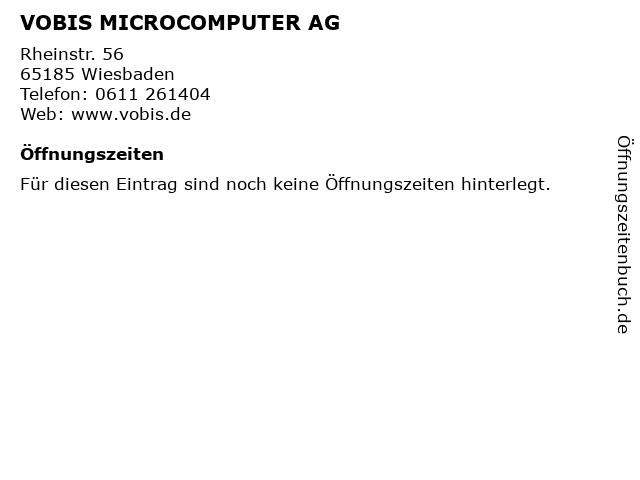 VOBIS MICROCOMPUTER AG in Wiesbaden: Adresse und Öffnungszeiten