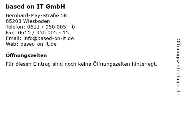 based on IT GmbH in Wiesbaden: Adresse und Öffnungszeiten