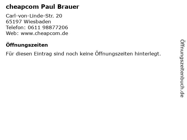 cheapcom Paul Brauer in Wiesbaden: Adresse und Öffnungszeiten