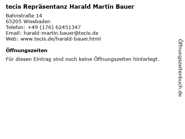 tecis Repräsentanz Harald Martin Bauer in Wiesbaden: Adresse und Öffnungszeiten