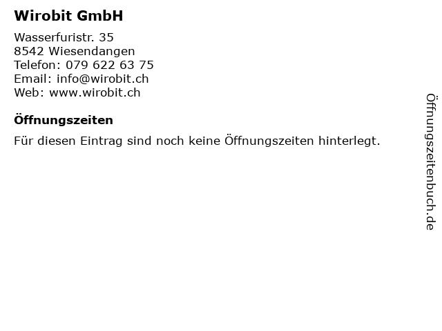 Wirobit GmbH in Wiesendangen: Adresse und Öffnungszeiten