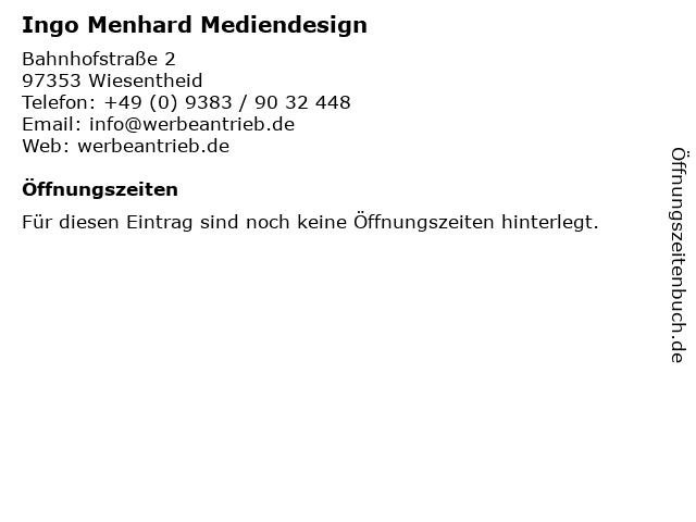 Ingo Menhard Mediendesign in Wiesentheid: Adresse und Öffnungszeiten