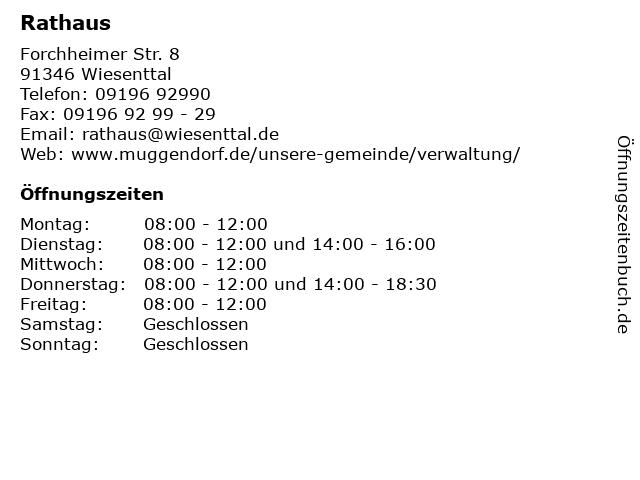 Ordnungsamt in Wiesenttal: Adresse und Öffnungszeiten