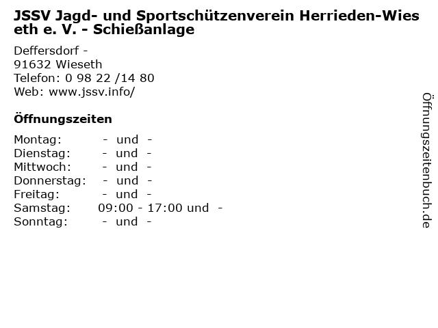 JSSV Jagd- und Sportschützenverein Herrieden-Wieseth e. V. - Schießanlage in Wieseth: Adresse und Öffnungszeiten