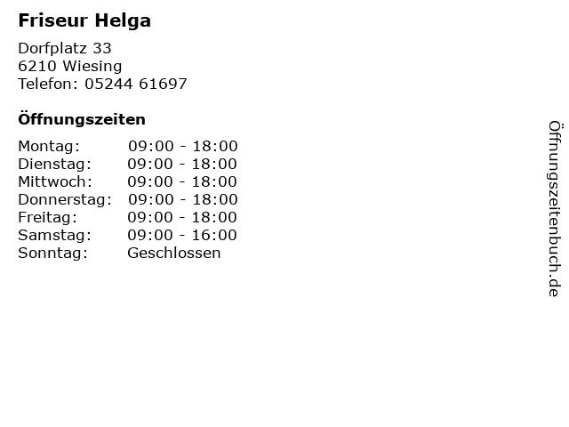 Friseur Helga in Wiesing: Adresse und Öffnungszeiten