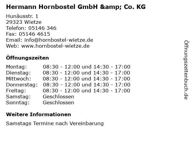 GmbH & Co. KG Hermann Hornbostel in Wietze: Adresse und Öffnungszeiten