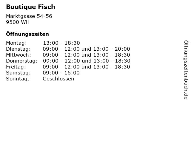 Boutique Fisch in Wil: Adresse und Öffnungszeiten