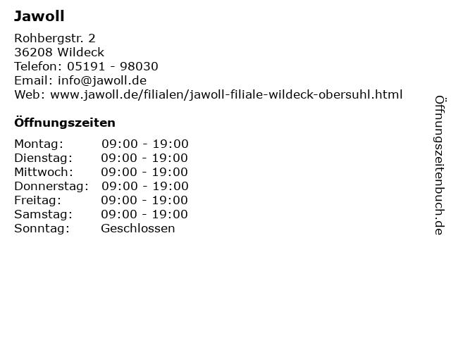 Jawoll in Wildeck: Adresse und Öffnungszeiten