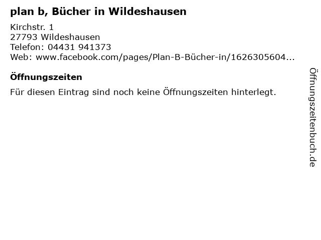 plan b, Bücher in Wildeshausen in Wildeshausen: Adresse und Öffnungszeiten