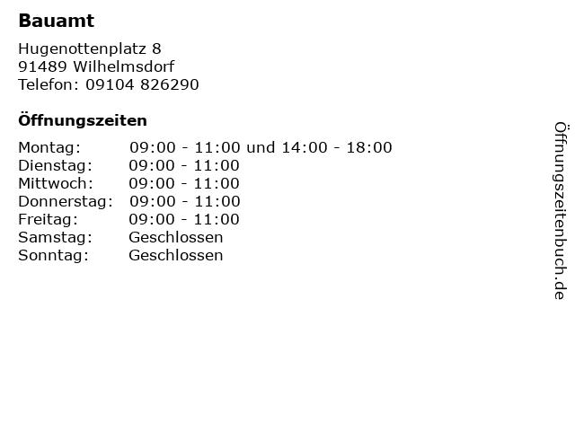 Bauamt in Wilhelmsdorf: Adresse und Öffnungszeiten