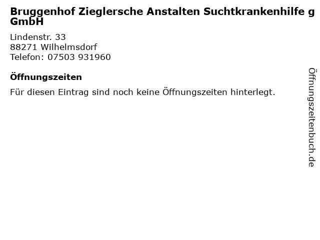 Bruggenhof Zieglersche Anstalten Suchtkrankenhilfe gGmbH in Wilhelmsdorf: Adresse und Öffnungszeiten