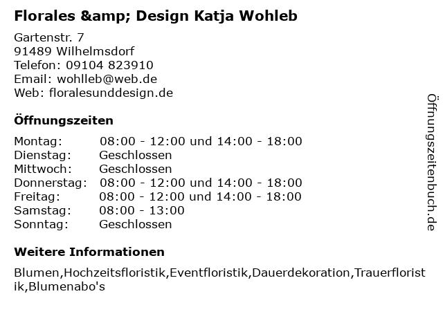Florales & Design in Wilhelmsdorf: Adresse und Öffnungszeiten