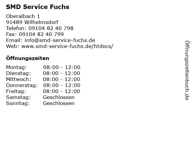 SMD Service Fuchs in Wilhelmsdorf: Adresse und Öffnungszeiten