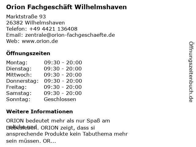 Orion Wilhelmshaven