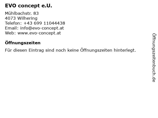 EVO concept e.U. in Wilhering: Adresse und Öffnungszeiten