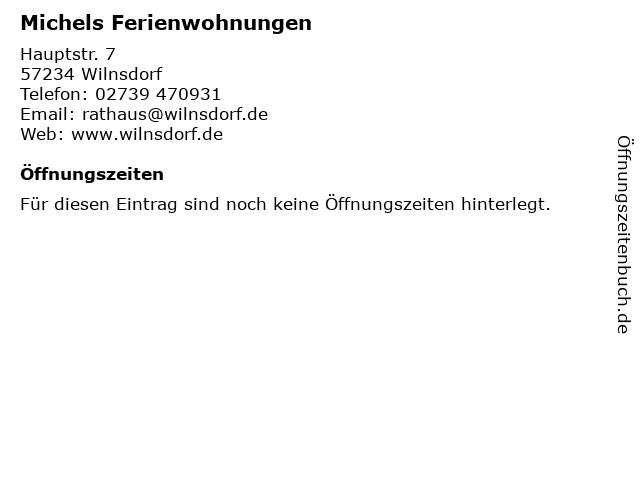 Michels Ferienwohnungen in Wilnsdorf: Adresse und Öffnungszeiten