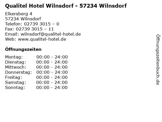 Qualitel Hotel Wilnsdorf - 57234 Wilnsdorf in Wilnsdorf: Adresse und Öffnungszeiten