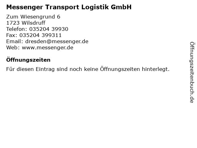Messenger Transport Logistik GmbH in Wilsdruff: Adresse und Öffnungszeiten