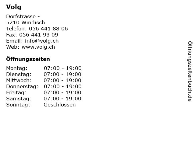 Volg in Windisch: Adresse und Öffnungszeiten