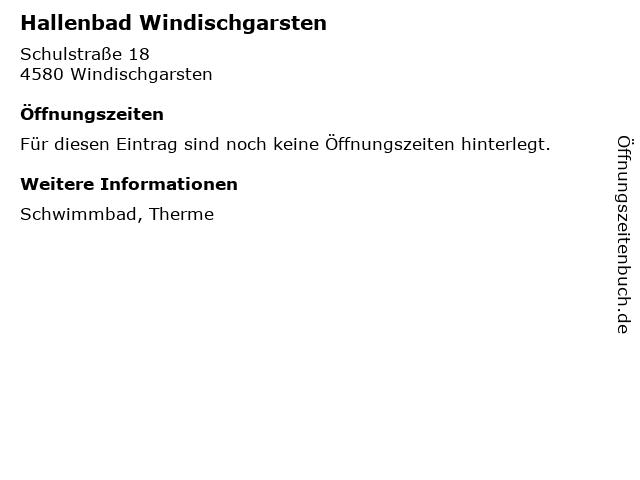 Hallenbad Windischgarsten in Windischgarsten: Adresse und Öffnungszeiten