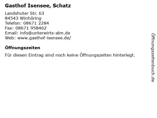 Gasthof Isensee, Schatz in Winhöring: Adresse und Öffnungszeiten