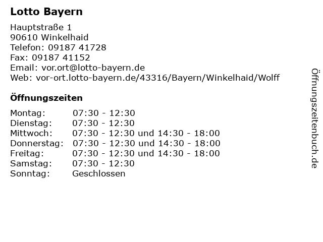 Lotto Bayern in Winkelhaid: Adresse und Öffnungszeiten
