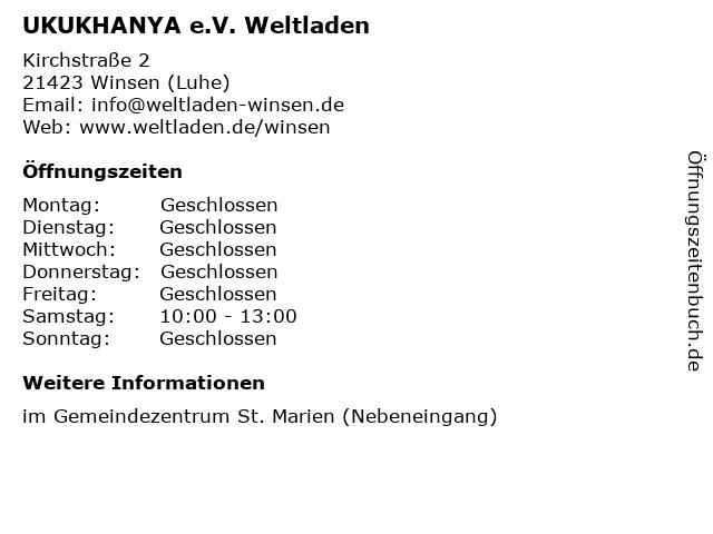 UKUKHANYA e.V. Weltladen in Winsen (Luhe): Adresse und Öffnungszeiten