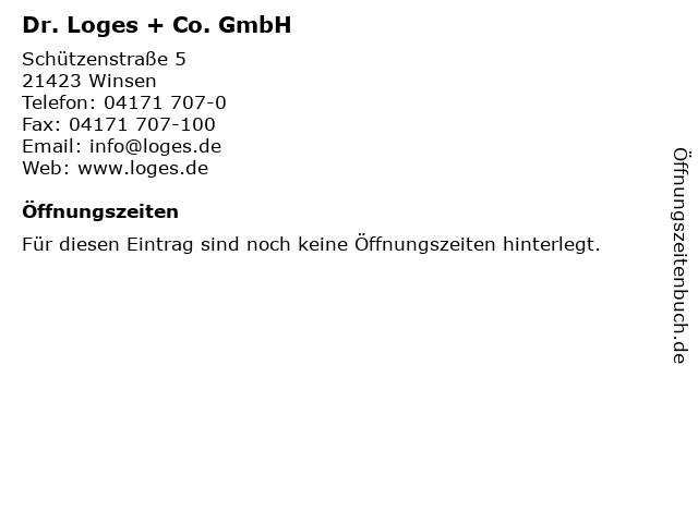 Dr. Loges + Co. GmbH in Winsen: Adresse und Öffnungszeiten