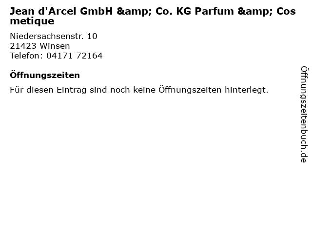 Jean d'Arcel GmbH & Co. KG Parfum & Cosmetique in Winsen: Adresse und Öffnungszeiten