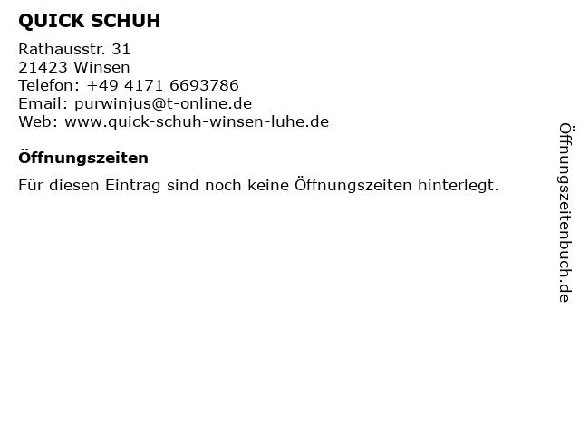 QUICK SCHUH in Winsen: Adresse und Öffnungszeiten
