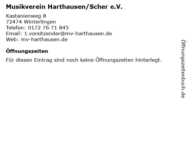 Musikverein Harthausen/Scher e.V. in Winterlingen: Adresse und Öffnungszeiten