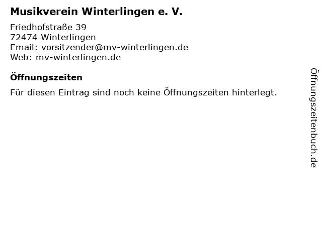 Musikverein Winterlingen e. V. in Winterlingen: Adresse und Öffnungszeiten