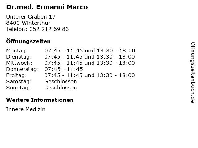 Dr.med. Ermanni Marco in Winterthur: Adresse und Öffnungszeiten