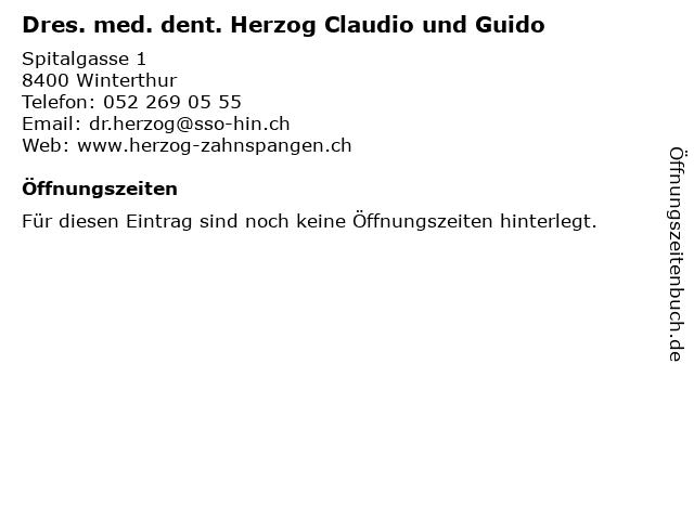 Dres. med. dent. Herzog Claudio und Guido in Winterthur: Adresse und Öffnungszeiten