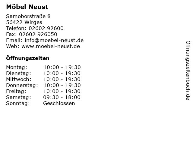 ᐅ öffnungszeiten Möbel Neust Samoborstraße 8 In Wirges