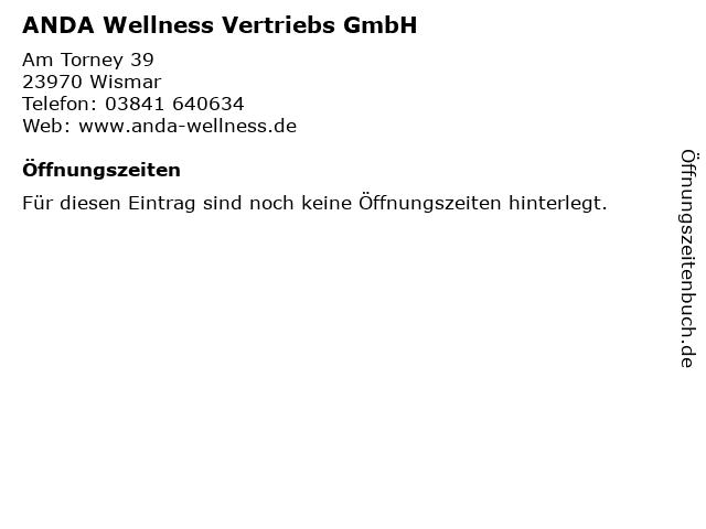 ANDA Wellness Vertriebs GmbH in Wismar: Adresse und Öffnungszeiten