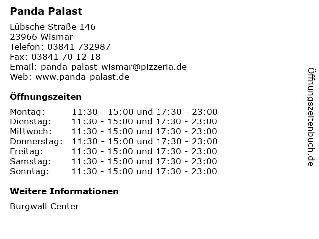 Panda Palast in Wismar: Adresse und Öffnungszeiten
