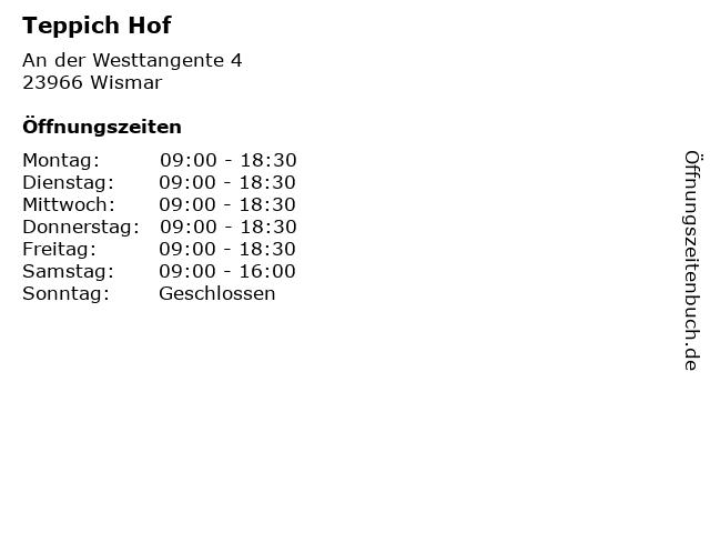 Teppich Hof in Wismar: Adresse und Öffnungszeiten