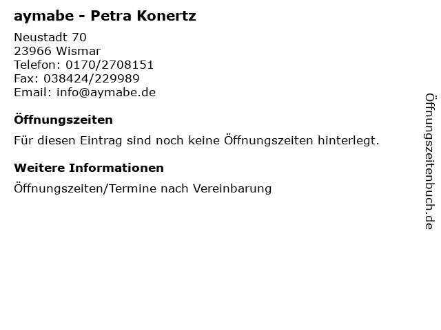 aymabe - Petra Konertz in Wismar: Adresse und Öffnungszeiten