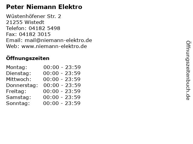 Peter Niemann Elektro in Wistedt: Adresse und Öffnungszeiten