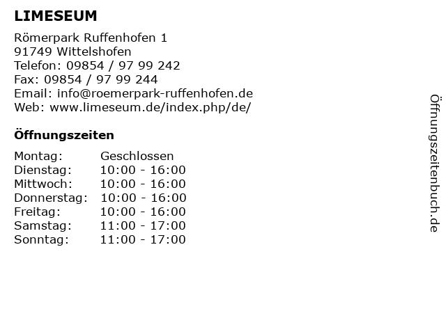 LIMESEUM in Wittelshofen: Adresse und Öffnungszeiten