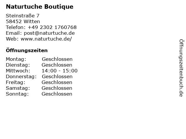Boutique Naturtuche in Witten: Adresse und Öffnungszeiten